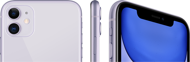 The iPhone 11's stunning design is water-resistant and comes in 6 colours.