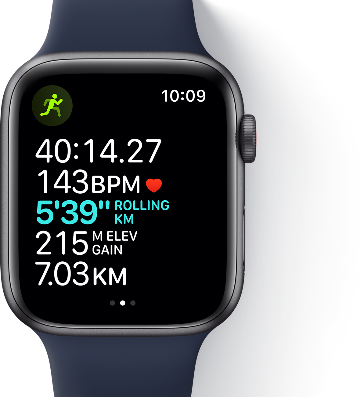 Track your workouts with the Apple Watch SE.