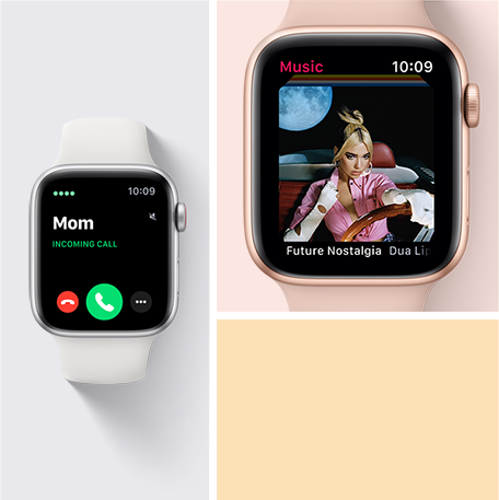 Take calls, send texts, use Siri and more with the Apple Watch SE.