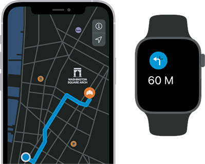 Never get lost again – combine your iPhone and Apple Watch for easy navigation.