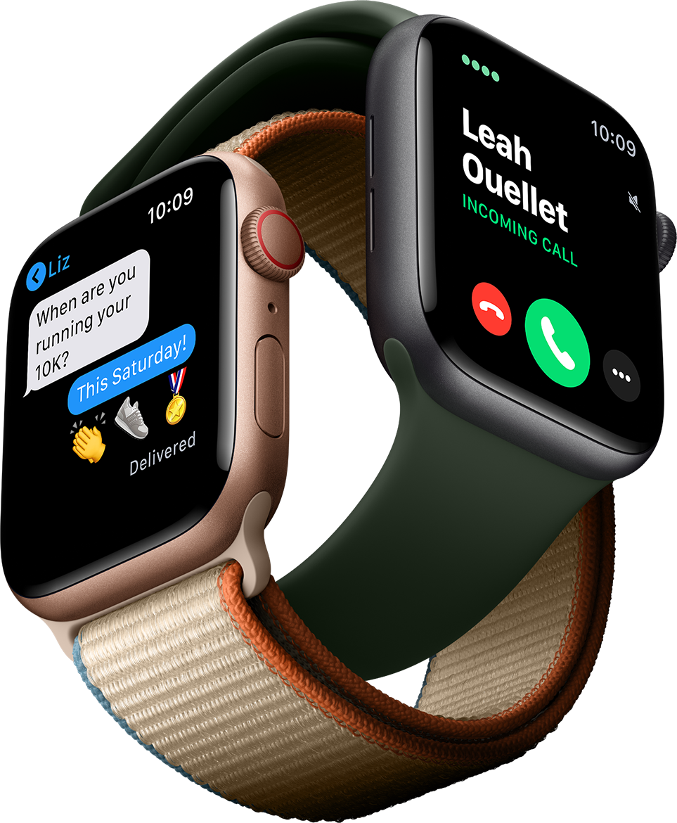 Answer calls, send texts, and stream music on the go with the Apple Watch Series 6.