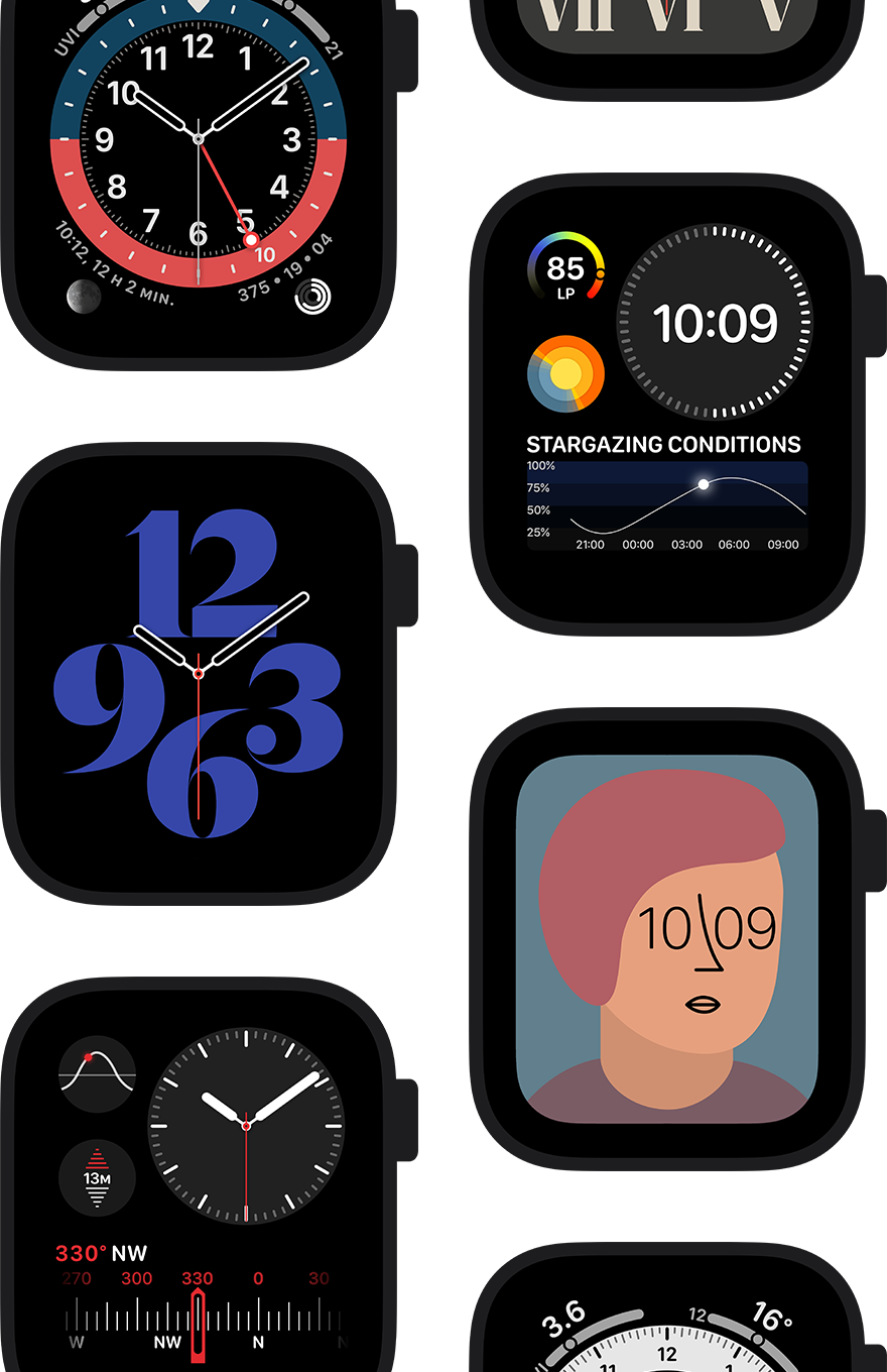 Customize your Apple Watch Series 6 and enjoy a brighter display in direct sunlight.