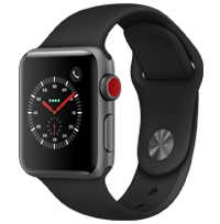 A side view of the Apple Watch Series 3 in Grey.