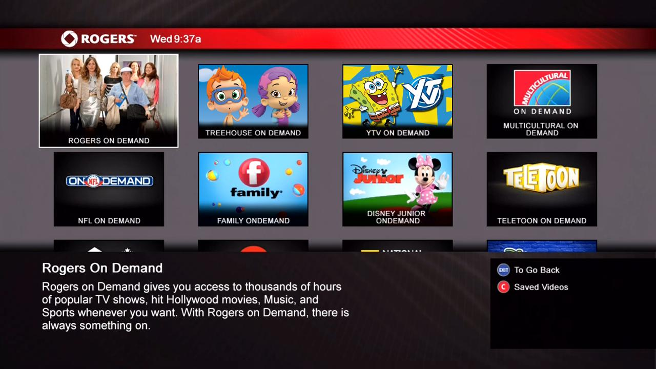 Access rogers on demand with navigatr help support for Tv on demand