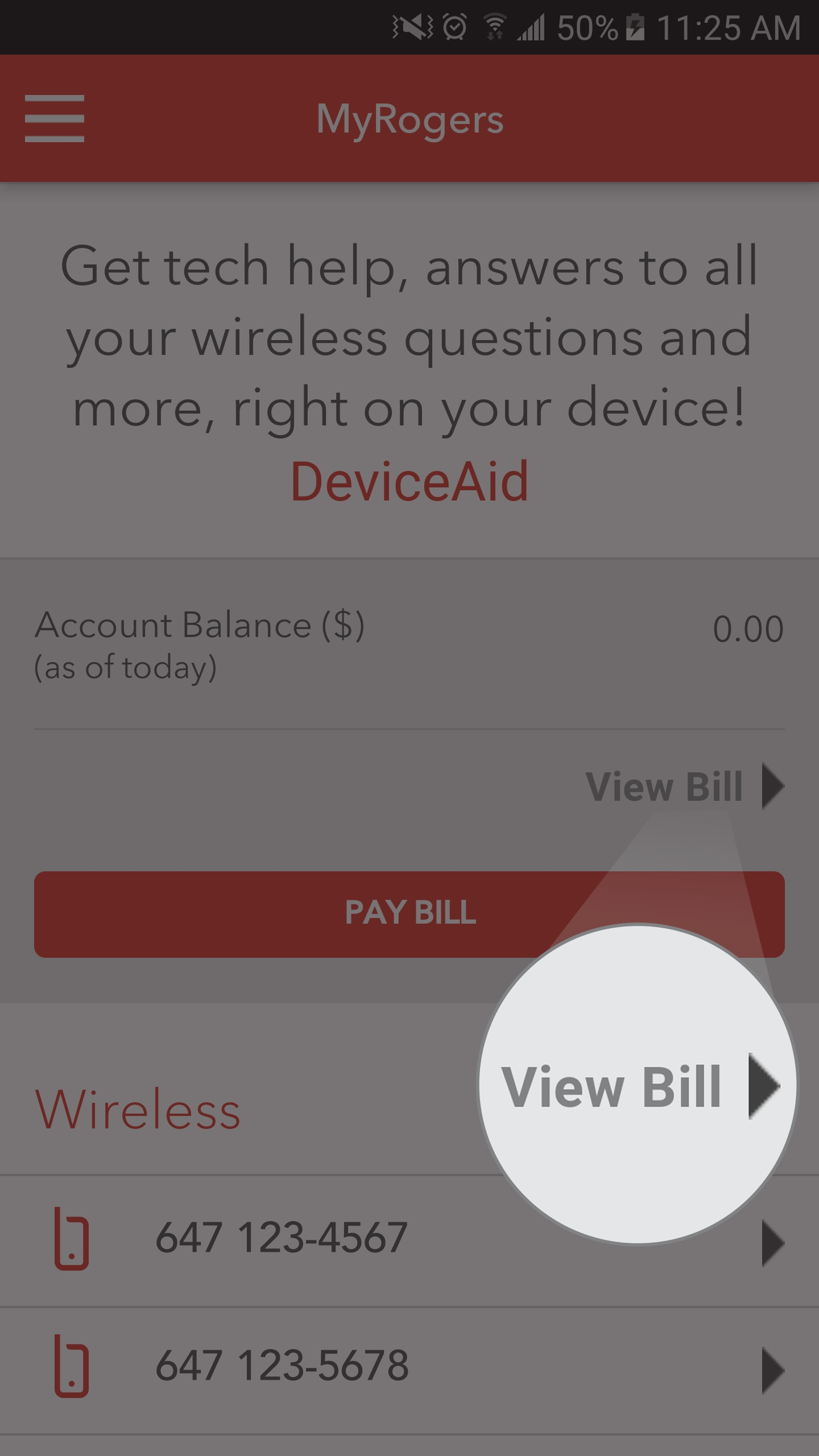 online and paper billing faqs rogers tap view bill on the home screen