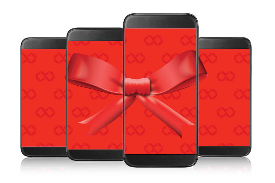 Give the gift of infinite data to your small business and get a monthly discount for every line you add to your plan.
