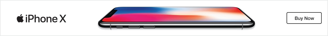 iPhone X with a buy now button