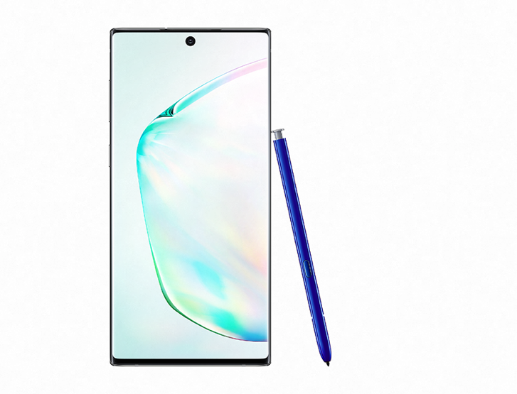 Enjoy the 6.8-inch edge-to-edge screen and the slim design on the Galaxy Note10+.