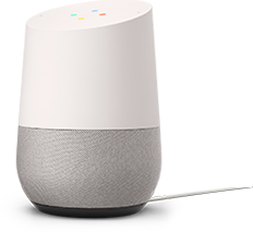 Smart Home Monitoring connects to Google Home to control smart appliances.