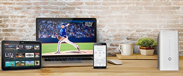With reliable high-speed Internet from Rogers, you can browse Rogers Anyplace TVTM on your tablet, stream the Jays game on SportsnetTM on your laptop and check the status of your Rogers Wall-to-Wall WiFi from the smartphone app—all at the same time.