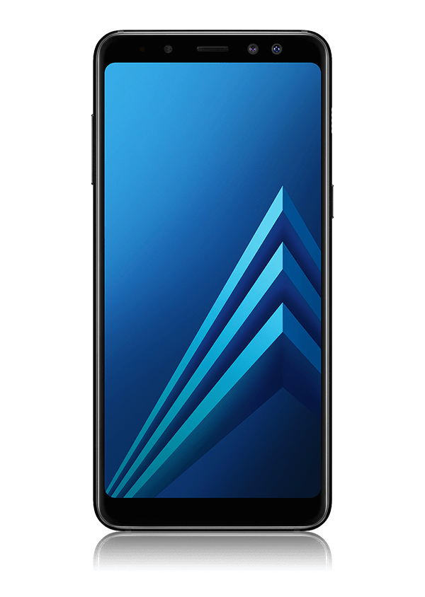 The Samsung A8 smartphone.
