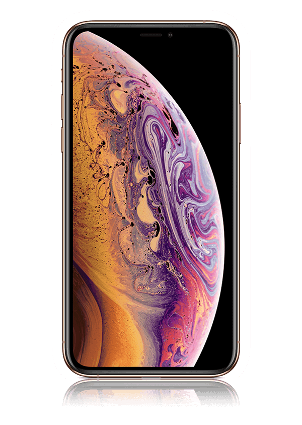 The iPhone XS smartphone.