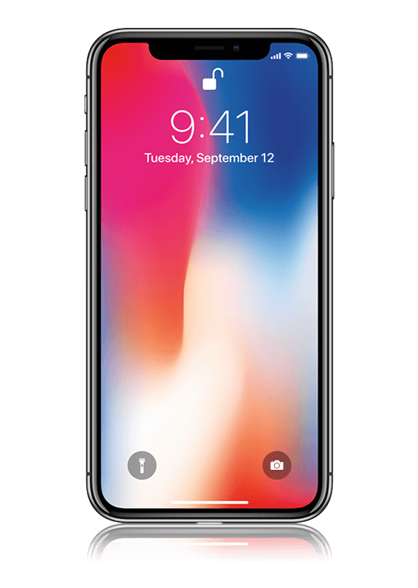 The iPhone X smartphone.