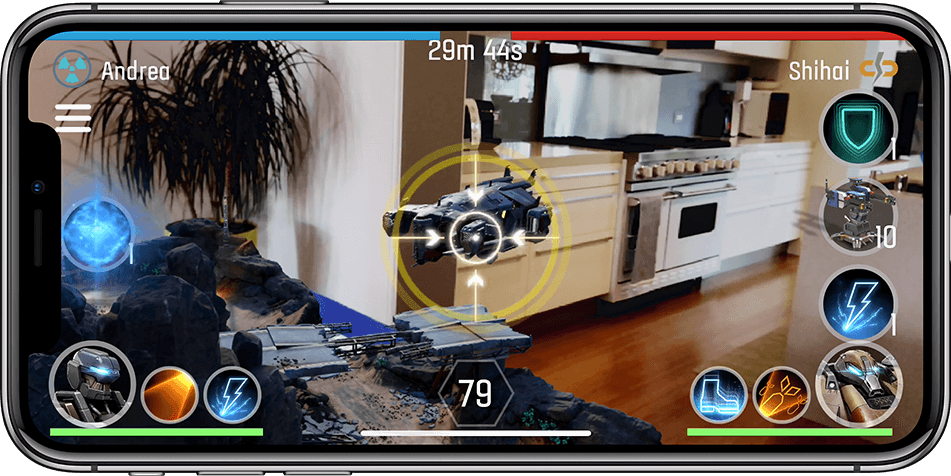 iPhone X with Augmented Reality