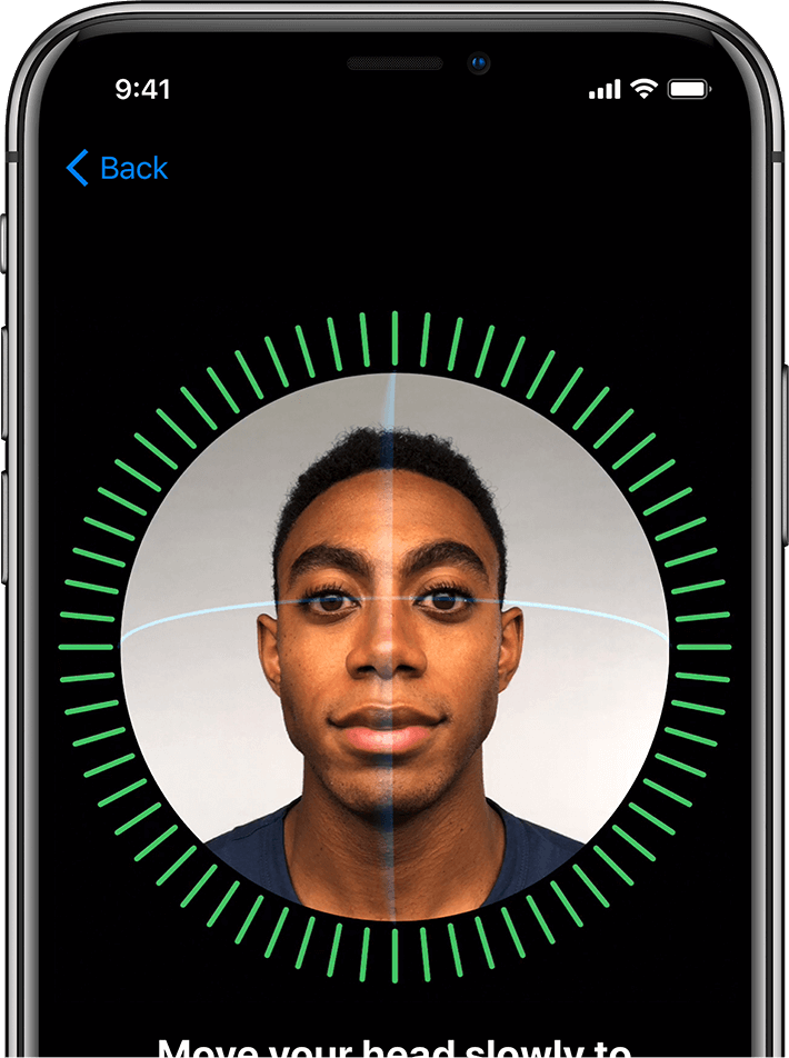 iPhone X maps your face for authentication