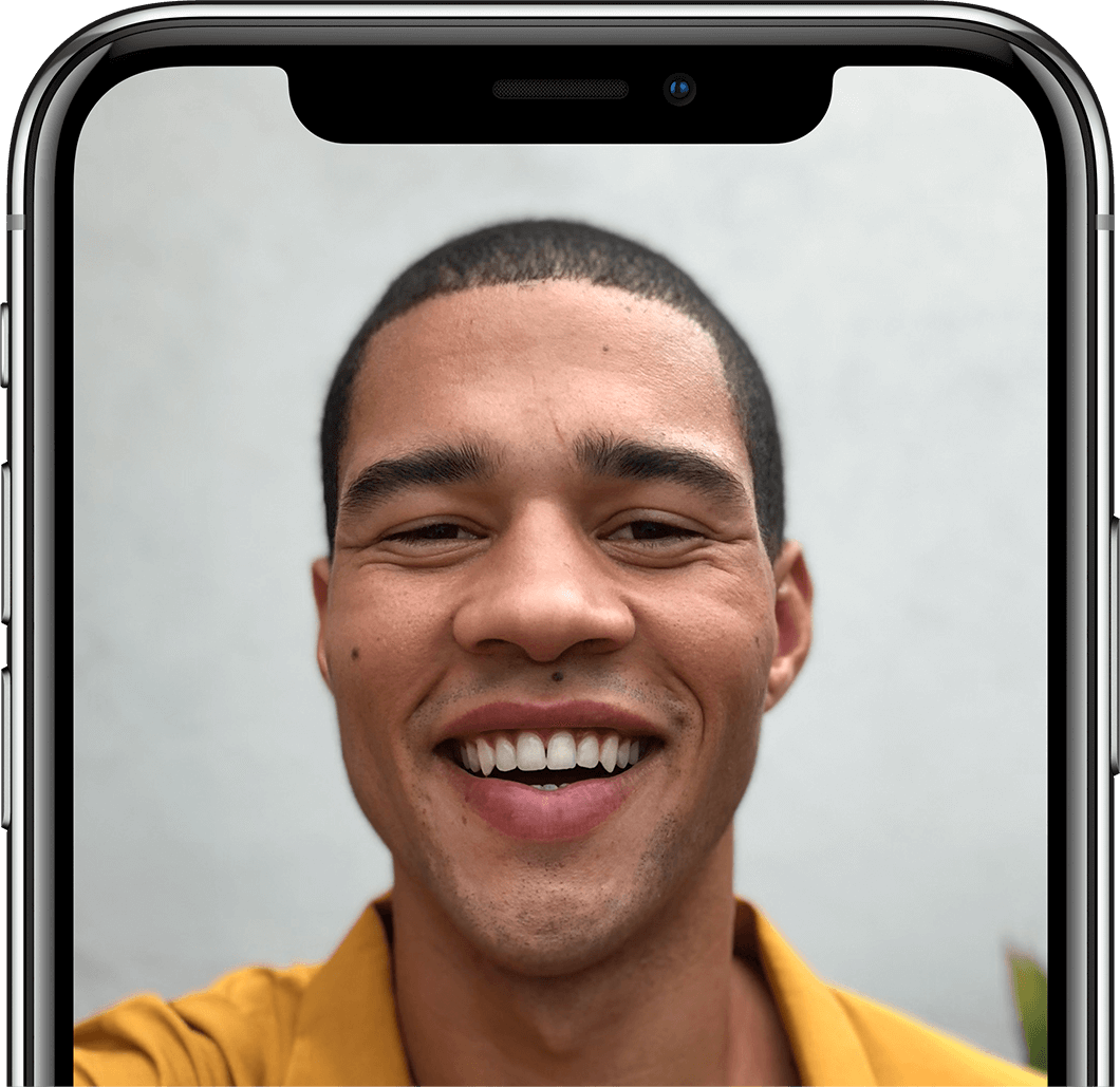 iPhone X front facing camera
