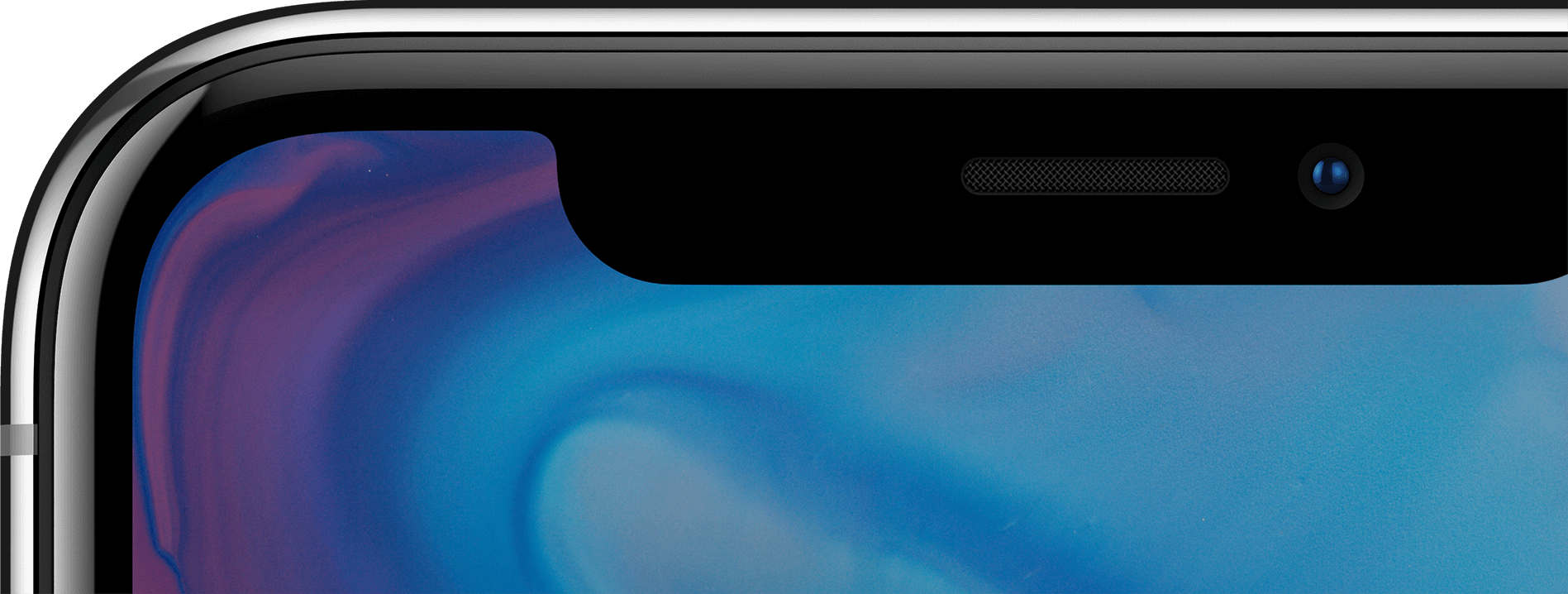 iPhone X device is all screen