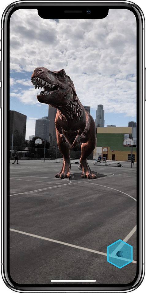 iPhone X displaying Augmented Reality icon