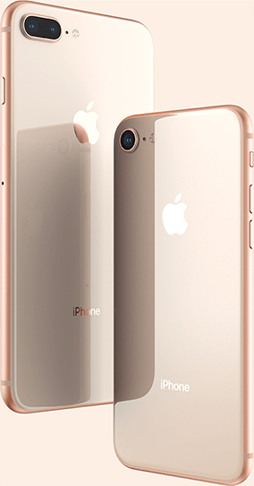 Two iPhone 8 in Rose Gold