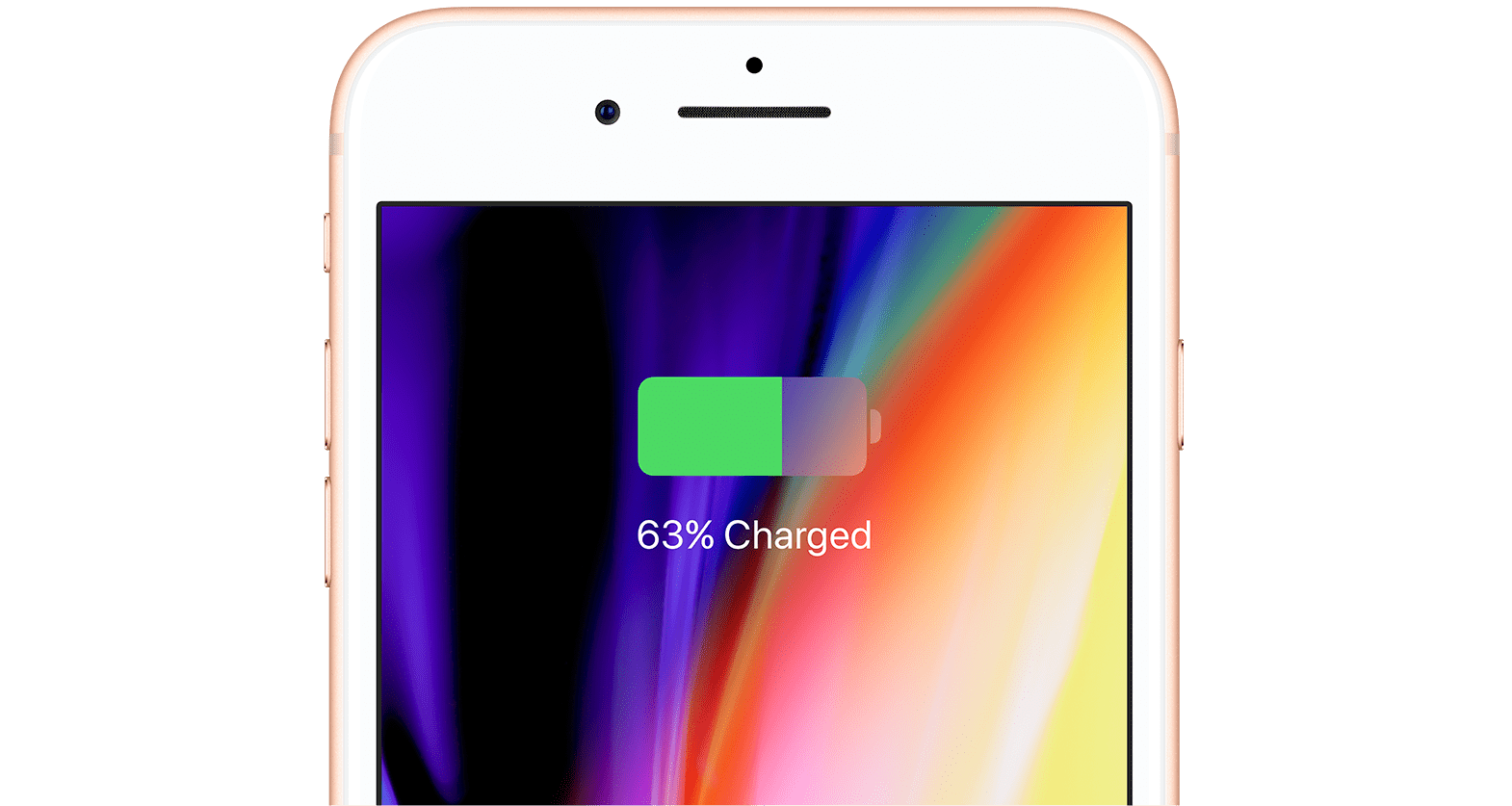 iPhone 8 charging screen