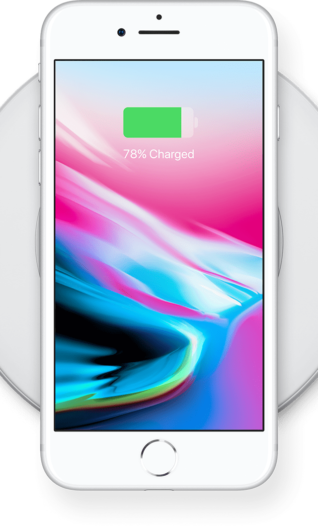 iPhone 8 with wireless charging