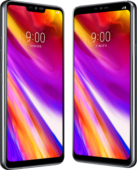 "Two 6.1"" QHD+ Full Vision display phone screens."