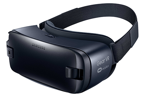 The Samsung Gear VR, a wearable VR headset.