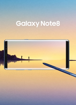 Samsung Galaxy Note8 with S Pen and simulated background