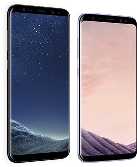 Samsung Galaxy S8 front and rear views